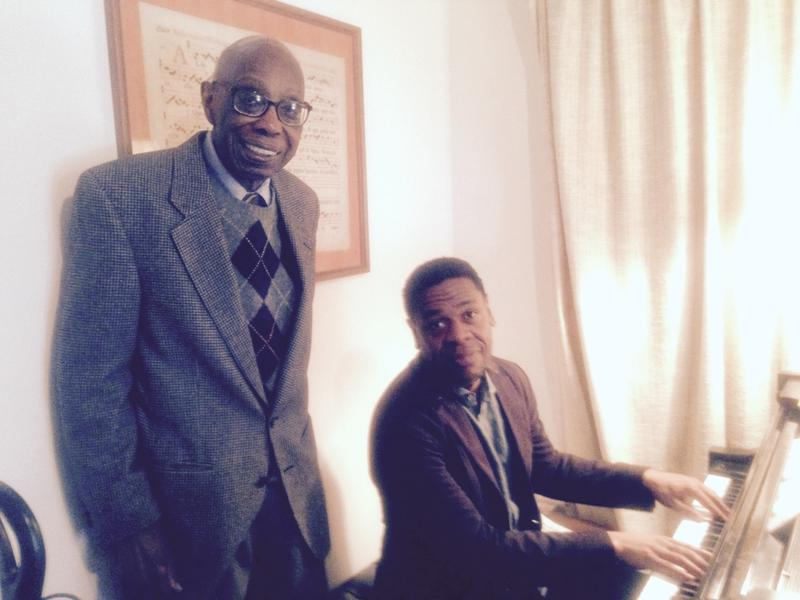 WQXR host Terrance McKnight and American composer George Walker