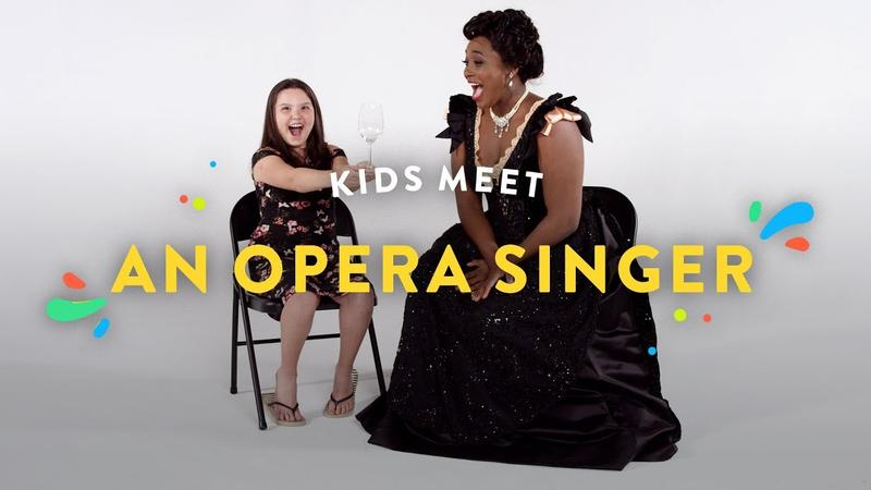 Opera singer Angel Blue shows these kids what she can do.