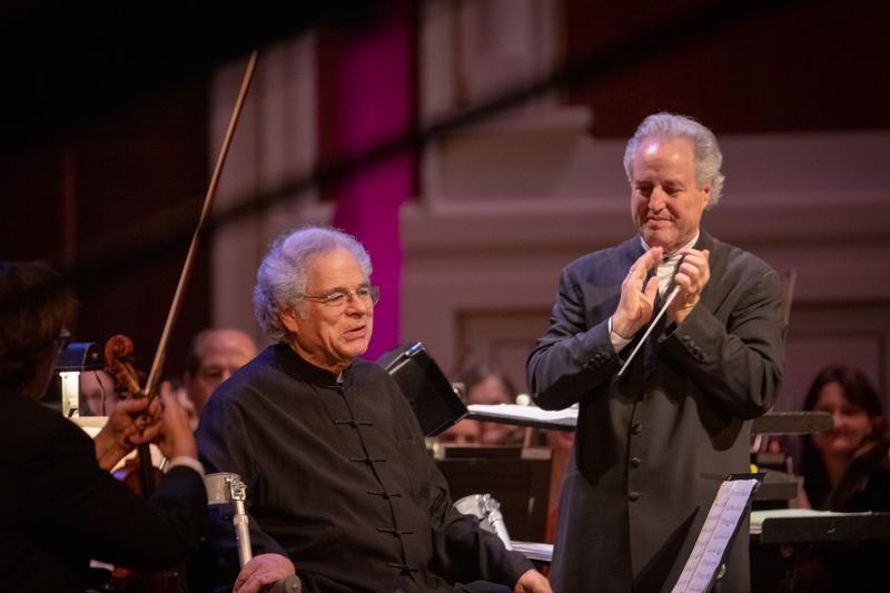 Violinist Itzhak Perlman and Conductor Manfred Honeck at Tree of Life Concert: For Peace and United