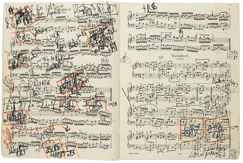 The Glenn Gould 'Goldberg' manuscript.