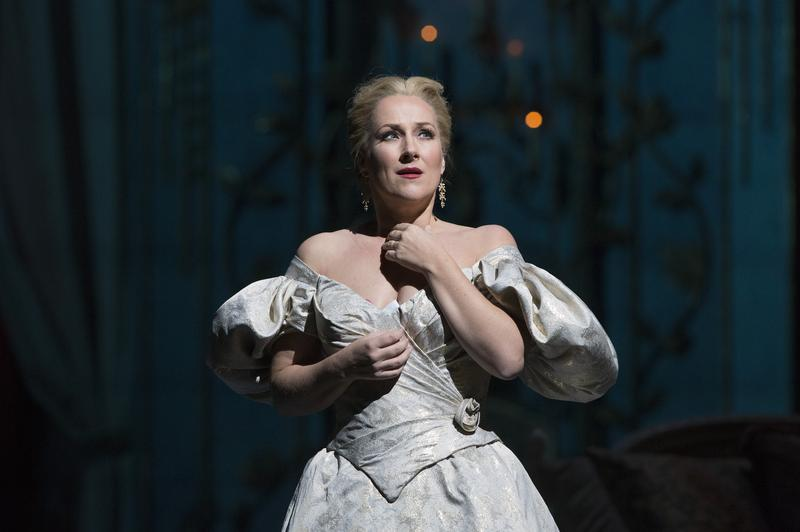"Soprano Diana Damrau as Violetta in Verdi's ""La Traviata."""