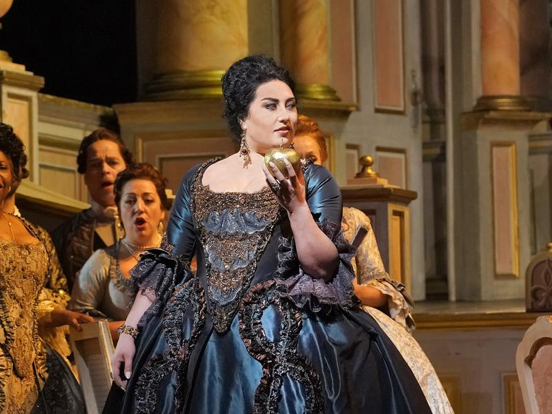 "Anita Rachvelishvili as the Princess of Bouillon in Cilea's ""Adriana Lecouvreur."""