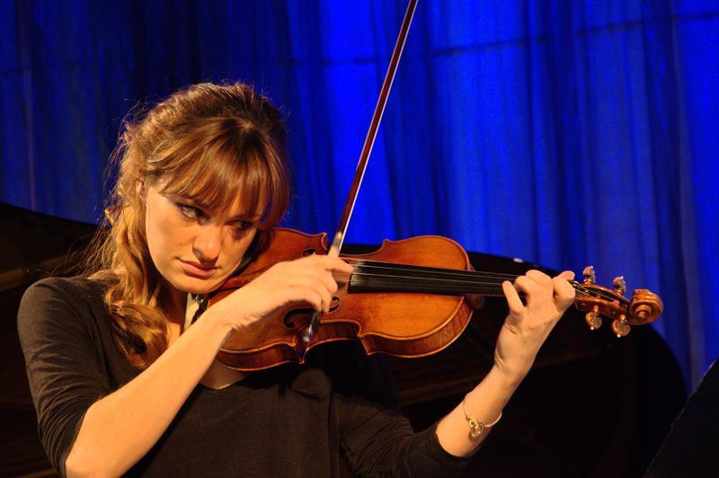 Violinist Nicola Benedetti in the Greene Space.