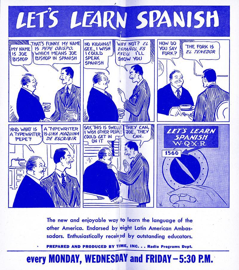 El español es fácil!   NYPR Archives & Preservation   WNYC
