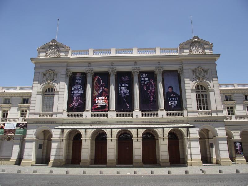 The exterior of the Teatro Municpal de Santiago in Chile