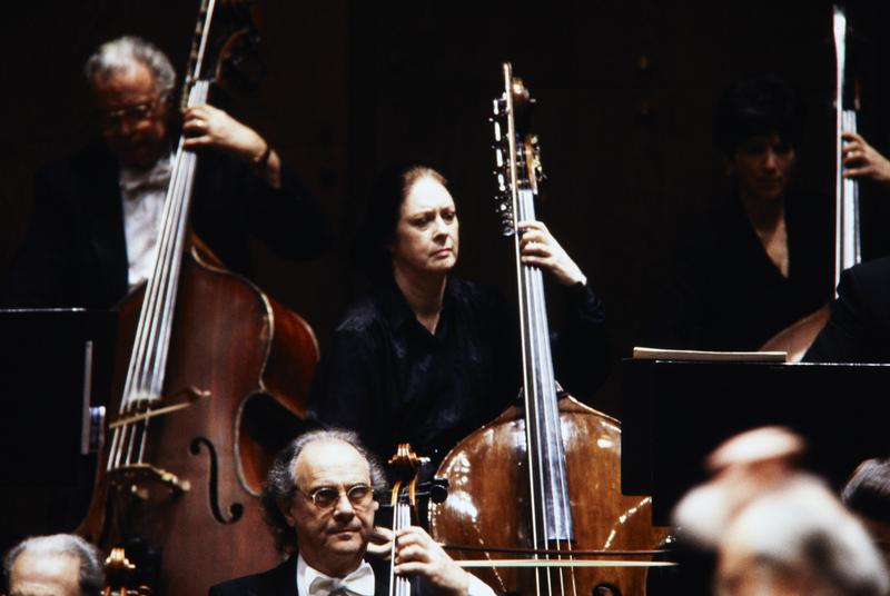 Double Bassist Orin O'Brien in concert, circa 1996