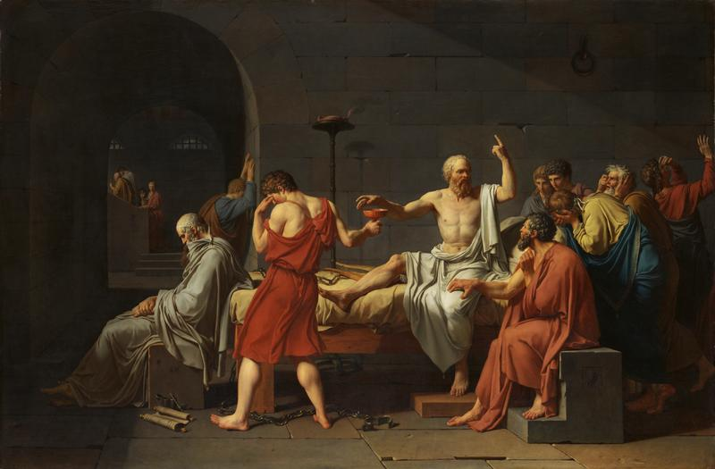 "Jacques Louis David's ""The Death of Socrates"""