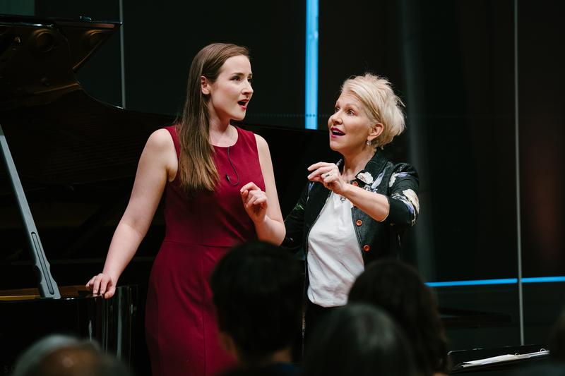 Soprano Alexandra Nowakowski in a masterclass taught by Joyce DiDonato