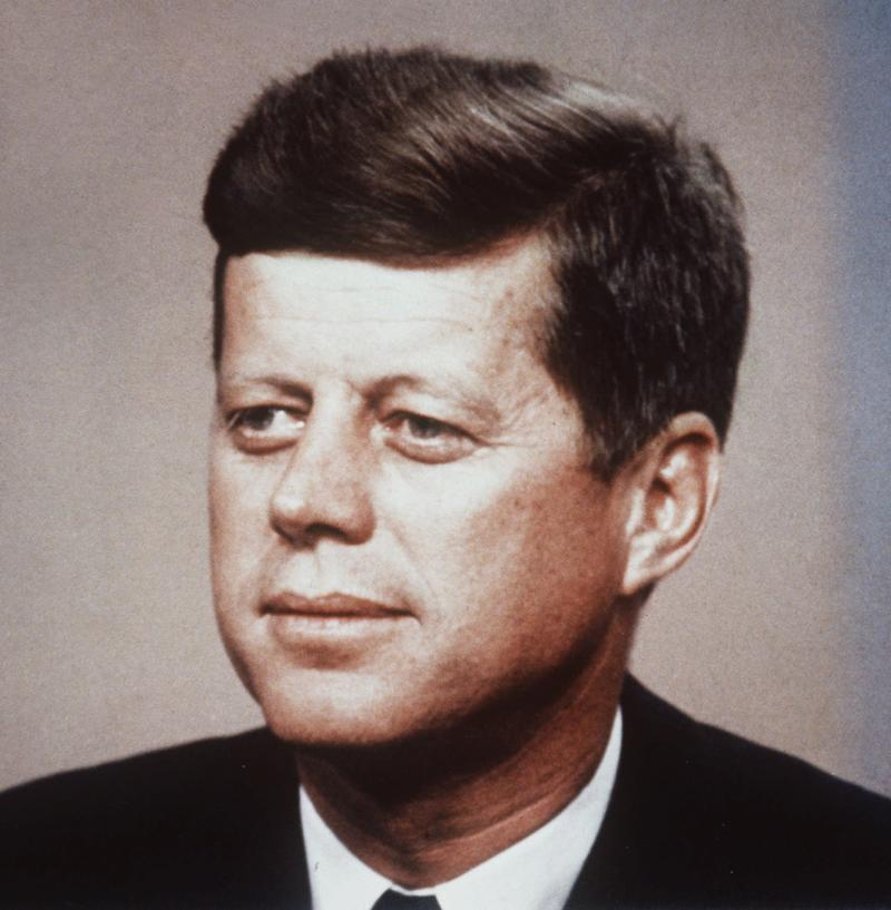 President John F. Kennedy is shown in this undated photo.