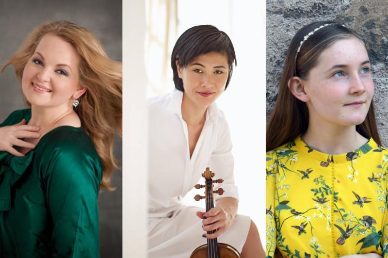Mezzo-Soprano Elizabeth DeShong, violinist Jennifer Koh, and composer Alma Deutscher