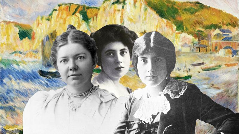 Composers (from left to right) Amy Beach, Gena Branscombe, and Lili Boulanger