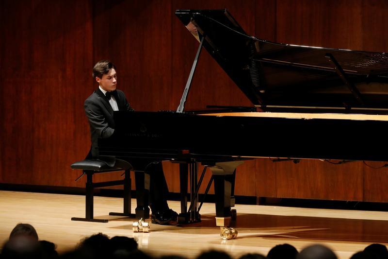 Pianist Jaden Izik-Dzurko at the Gina Bachauer Competition Winners' Recital