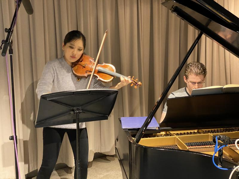 Violinist Grace Park and pianist Joseph Liccardo