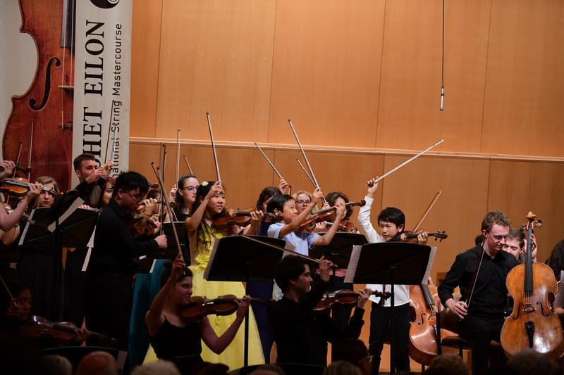 Students at the Keshet Eilon String Mastercourse in Israel