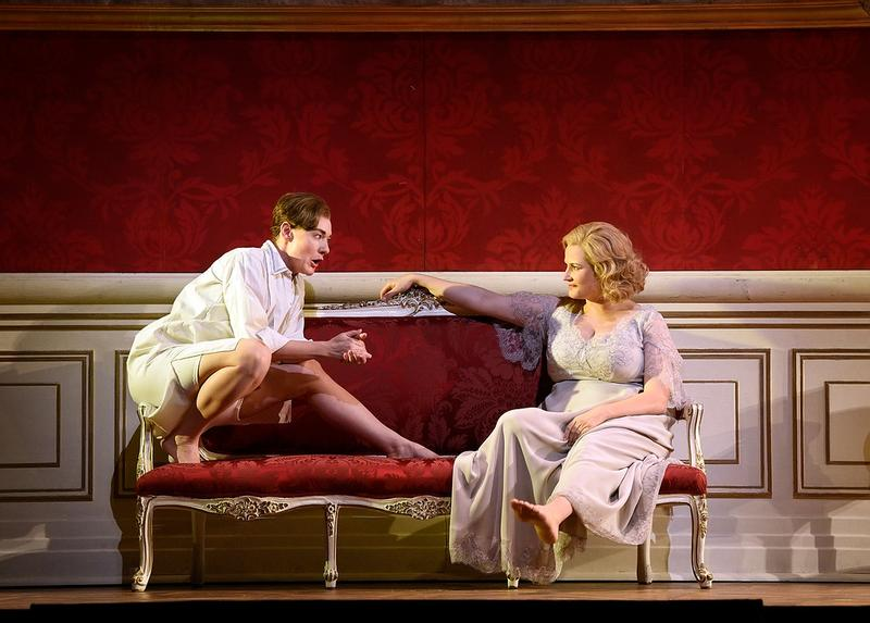 "Magdalena Kožená as Octavian and Camilla Nylund as the Marschallin in Strauss's ""Der Rosenkavalier."""