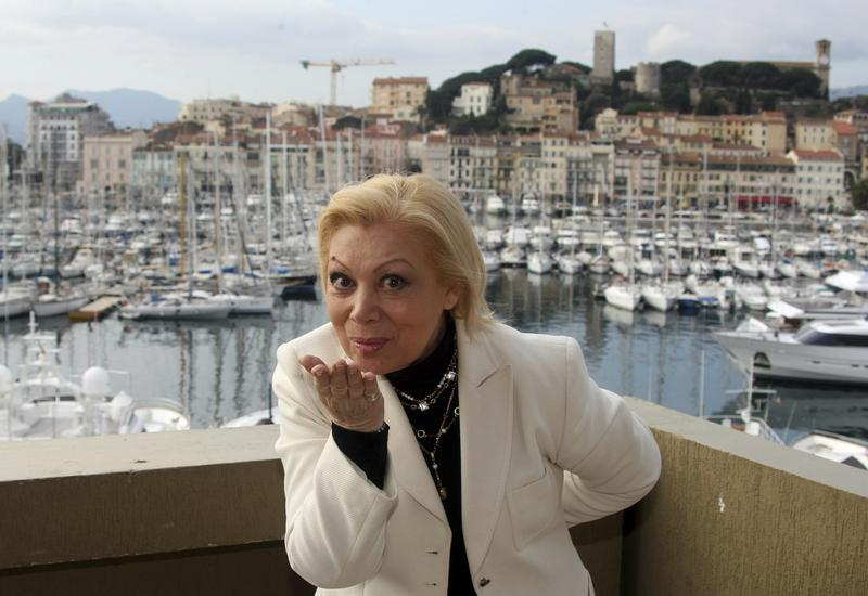 Mirella Freni poses at the 44th MIDEM (International record music publishing and video music market) in Cannes, southern France