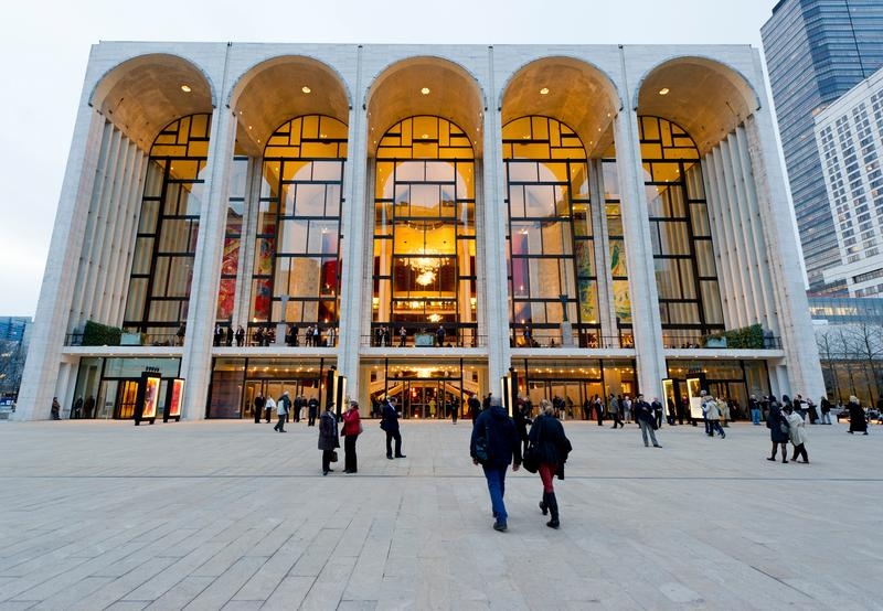 The Metropolitan Opera House at Lincoln Center Plaza.