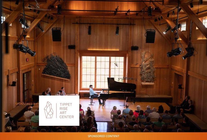 A piano recital at Tippet Rise Arts Center