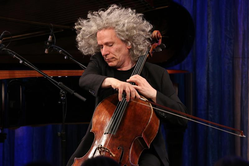 Cellist Steven Isserlis playing in the Greene Space