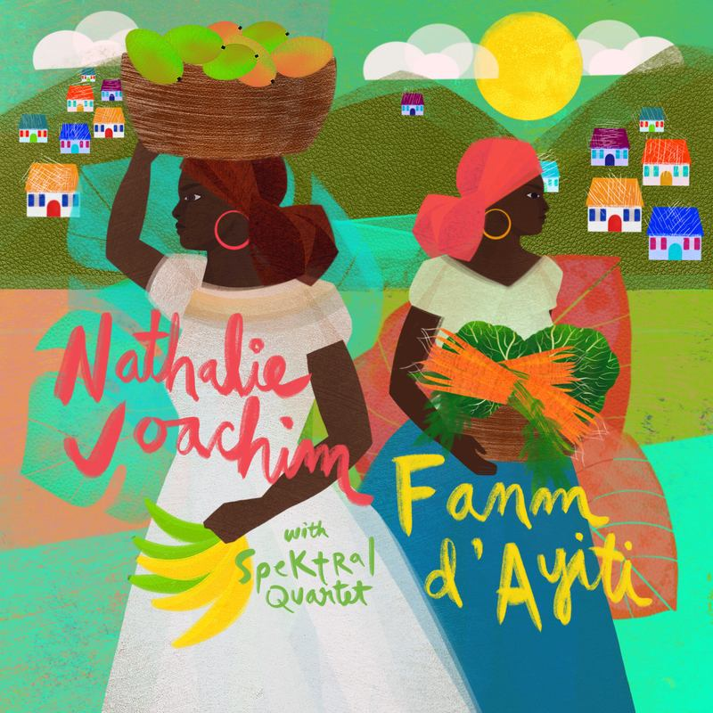 "The album art for Nathalie Joachim's ""Fanm d'Ayiti."""