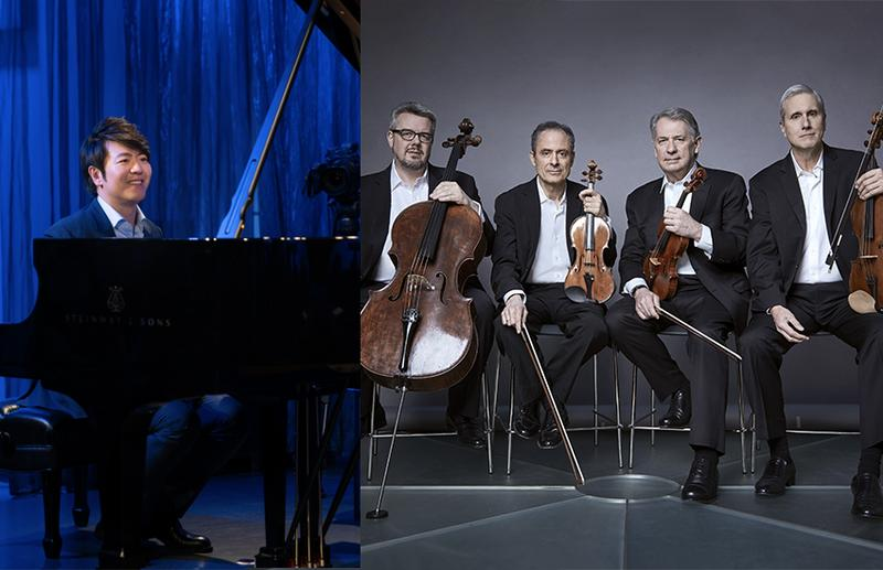 from l to r: Lang Lang, The Emerson Quartet