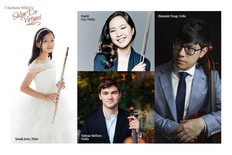 Flutist Sooah Jeon, Violinist Danbi Um, Cellist Zlatomir Fung, and Violinist Nathan Meltzer
