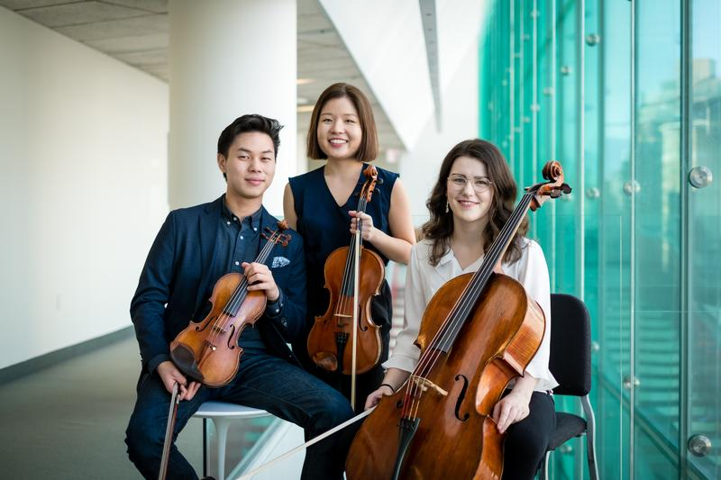 The leadership of the VISION Collective: Violinist Timothy Chooi, Violist Sarah Sung, and Cellist Drake Driscoll