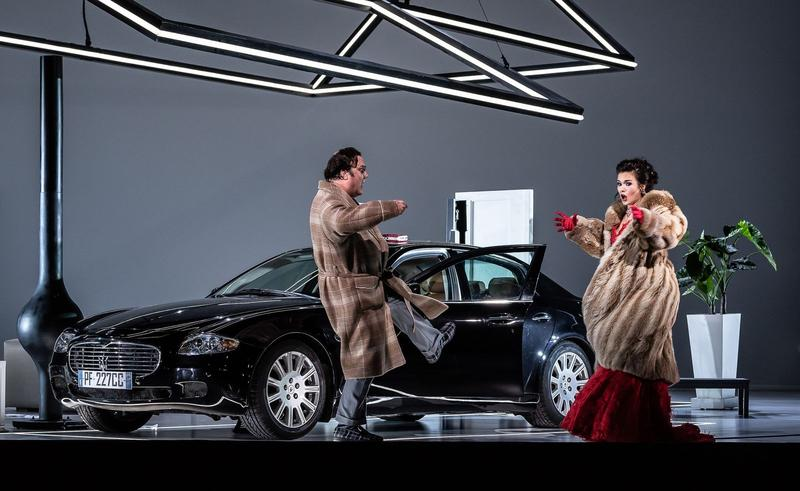 A scene from the Royal Opera House production of 'Don Pasquale'