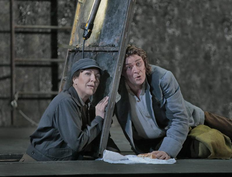 Adrianne Pieczonka as Leonore and Klaus Florian Vogt as Florestan in Beethoven's Fidelio.
