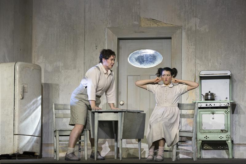 """Tara Erraught as Hansel and Lisette Oropesa as Gretel in Humperdinck's """"Hansel and Gretel."""""""