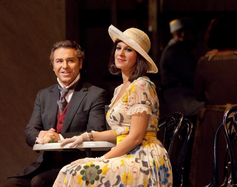 "Angela Gheorghiu as Magda and Roberto Alagna as Ruggero in Puccini's ""La Rondine."""
