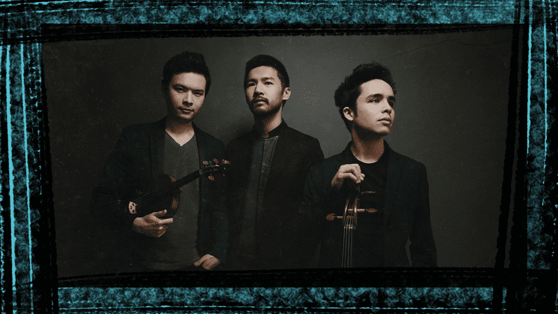 The Junction Trio, from left to right: Violinist Stefan Jackiw, Pianist Conrad Tao, and Cellist Jay Campbell