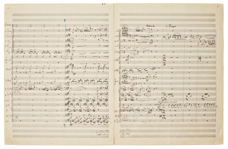 Manuscript of Mahler's Symphony No. 2