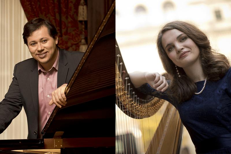 Pianist Ronaldo Rolim and Harpist Rachel O'Brien