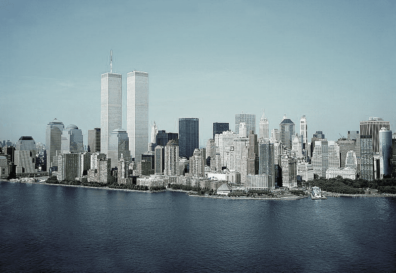 New York City Skyline with Twin Towers