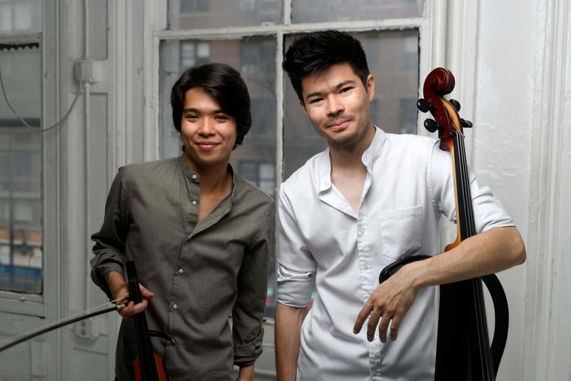 The Arkai Duo: Violinist Jonathan Miron, and Cellist Philip Sheegog