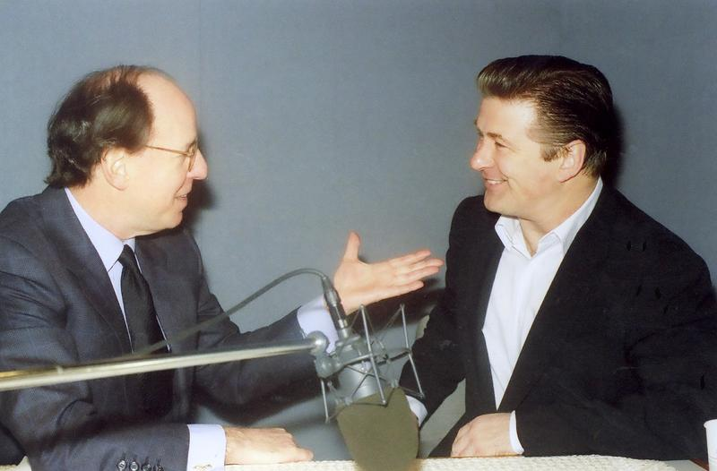 Host Gilbert Kaplan with Alec Baldwin, one of the guests to appear on Sunday's show.