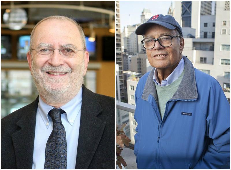 Hosts Leonard Lopate Left And Jonathan Schwartz