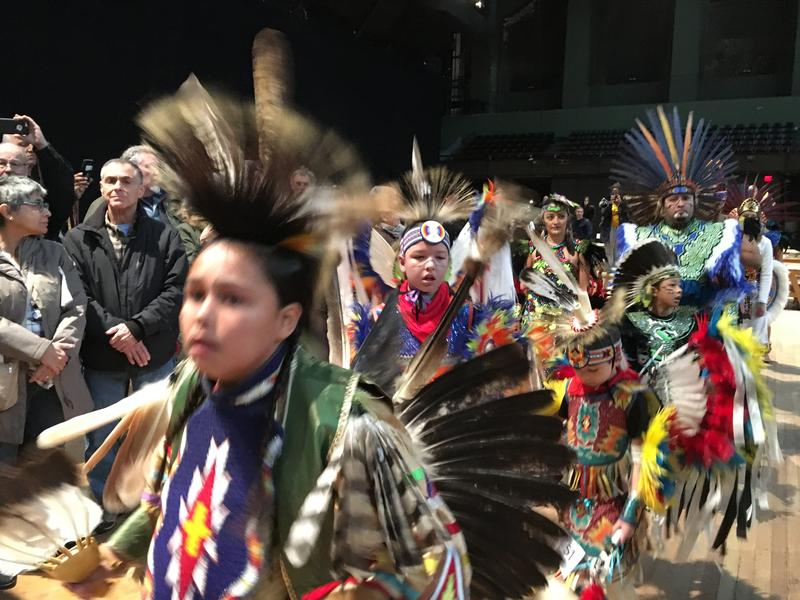 Hundreds of people from more than 100 indigenous groups gathered at the Park Avenue Armory for the first Lenape Pow Wow in Manhattan since the 1700s.