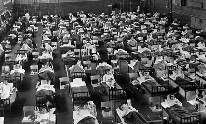 Asian flu patients in Sweden, 1957