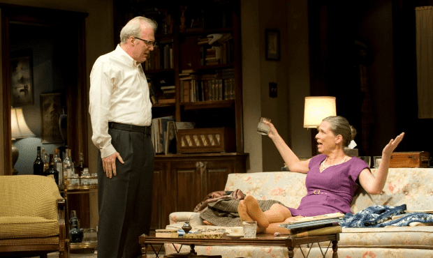 Tracy Letts and Amy Morton in Who's Afraid of Virginia Woolf? (Michael Brosilow)