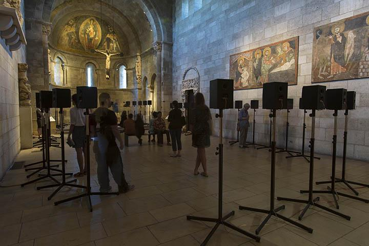 Janet Cardiff's 'The Forty Part Motet (2001)' is now at  Fuentidueña Chapel at The Cloisters museum and gardens.