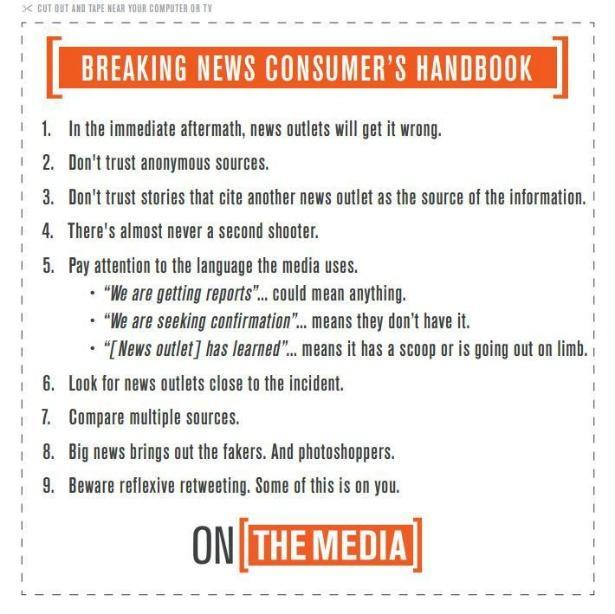 Image result for breaking news consumer's handbook