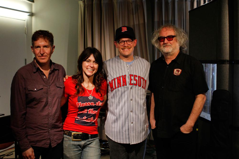 Soundcheck producer Joel Meyer shows off his Minnesota Twins pride with The Baseball Project in the Soundcheck studio.