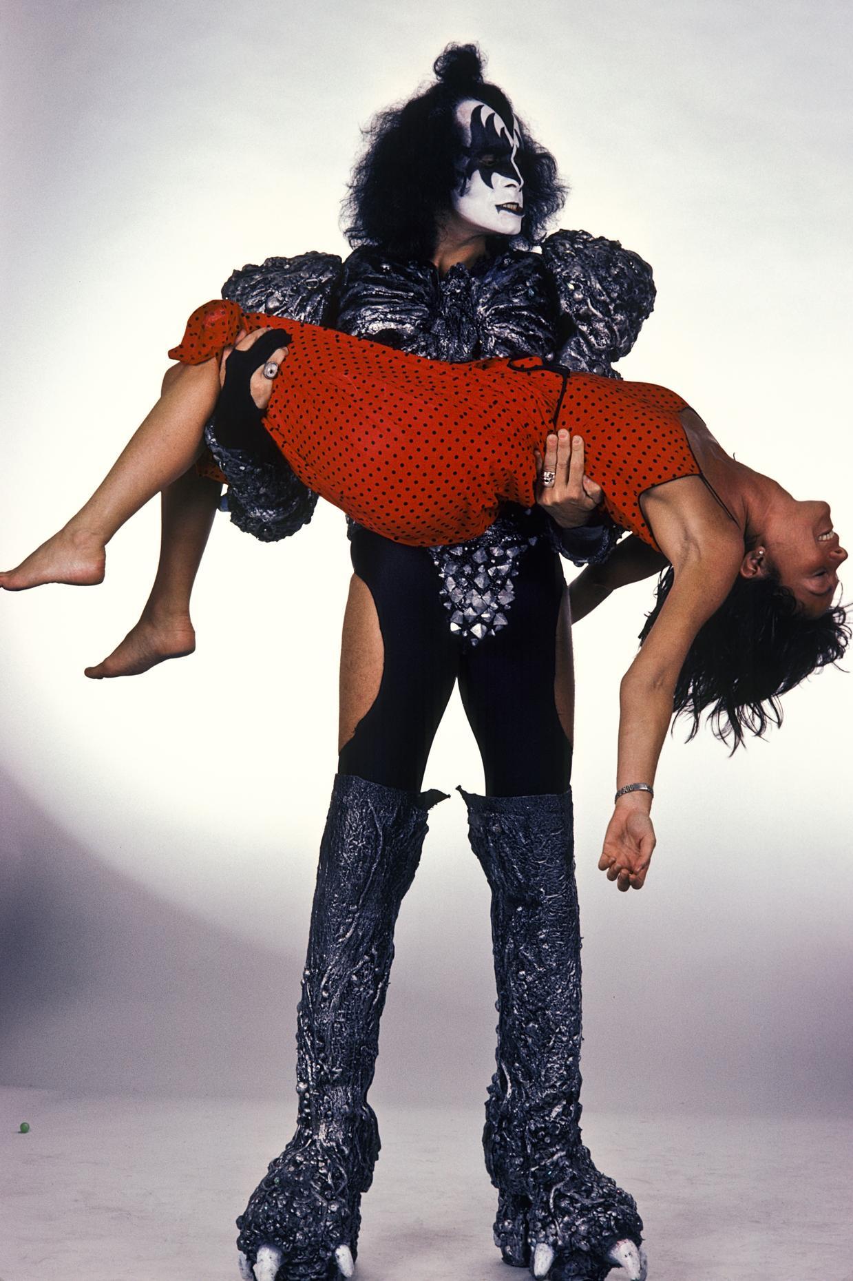 Lynn Goldsmith with Gene Simmons of Kiss.