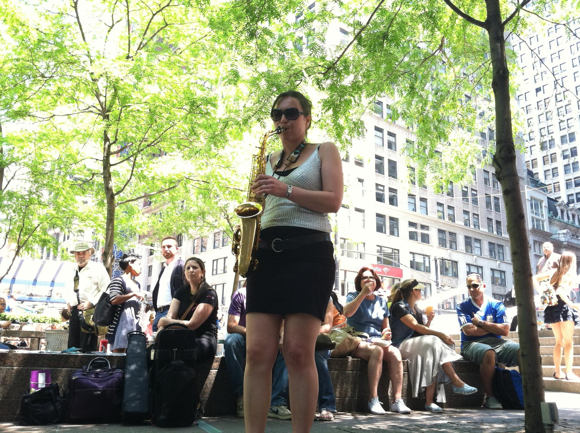 Sharel Cassity plays sax for Make Music New York