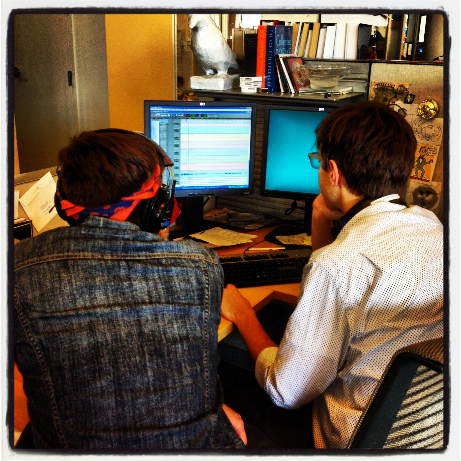 Studio 360 interns in action