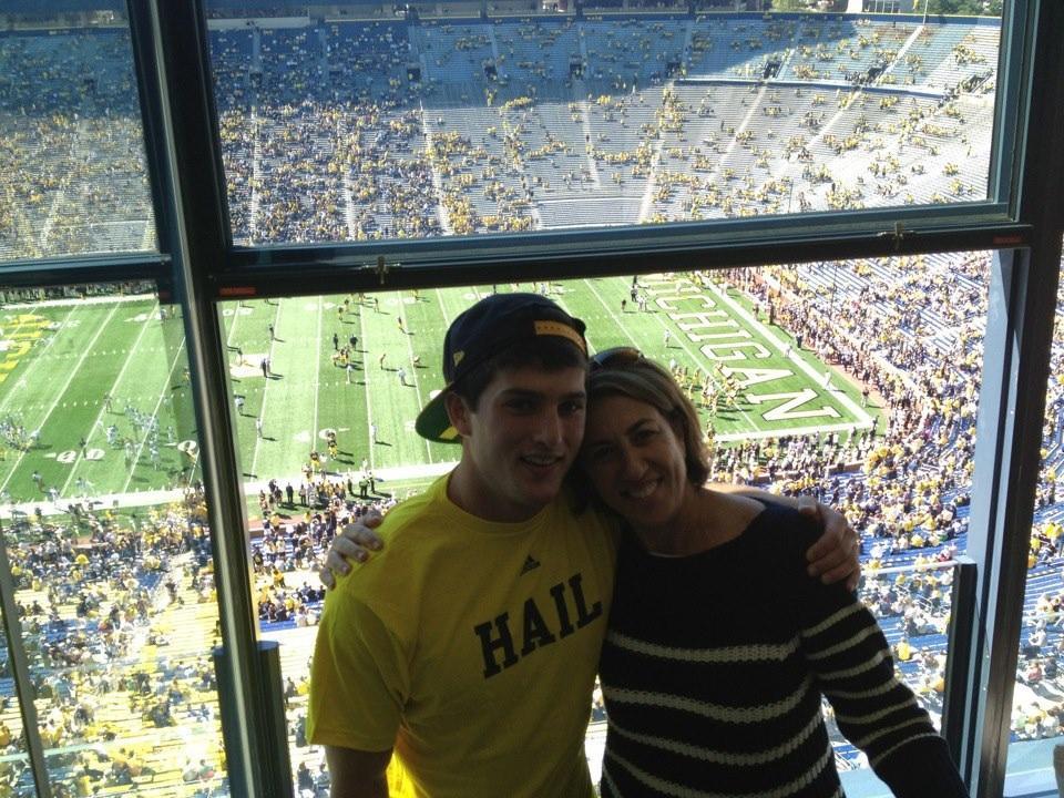 Jake and mom at Michigan