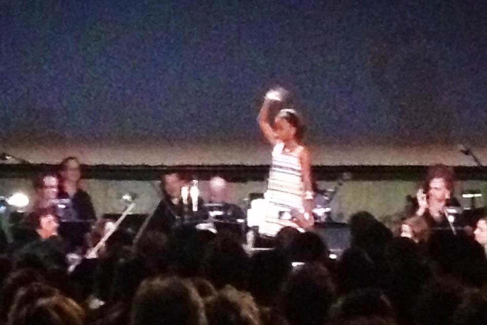 Young actress Quvenzhané Wallis of 'Beasts Of The Southern Wild,' from afar.