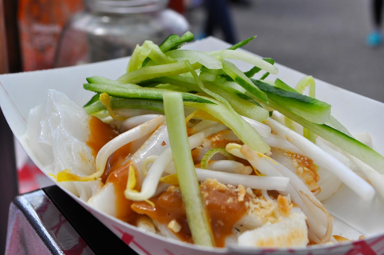 Cheong Fun noodles from Noodle Lane at Smorgasburg in Brooklyn Bridge Park.